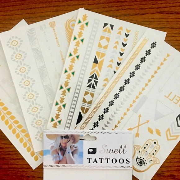 Swell Other - GOLD & SILVER TEMPORARY TATTOOS